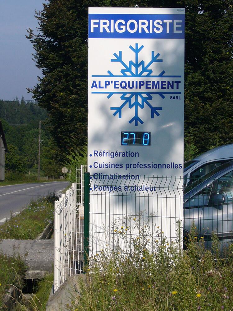 Création & installation d'un totem lumineux Alp'Equipement