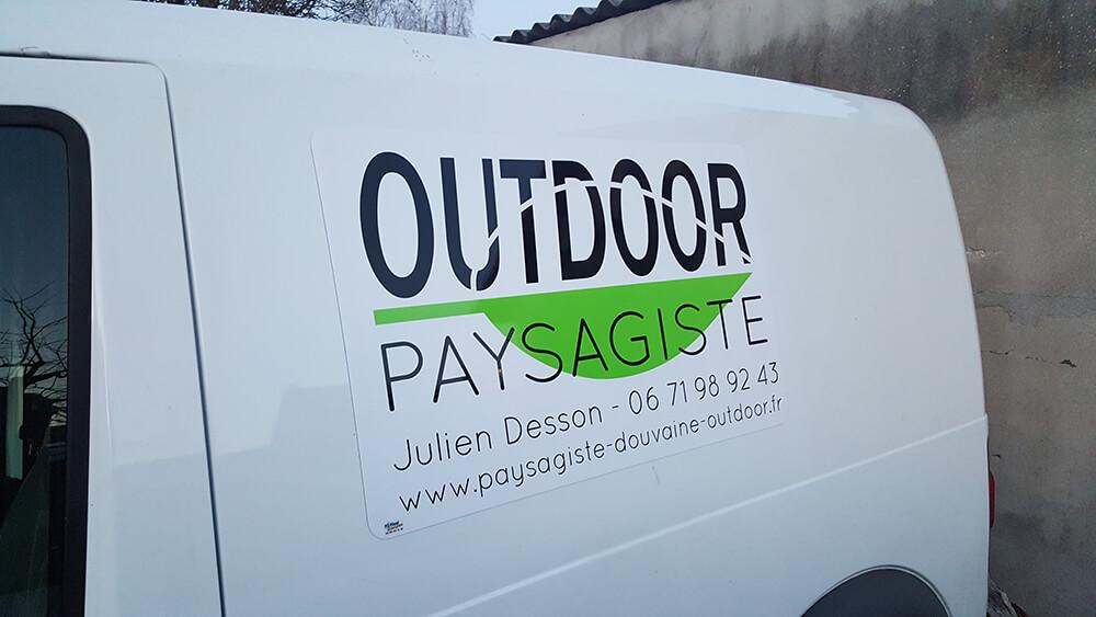 Marquage de véhicule Outdoor paysagiste