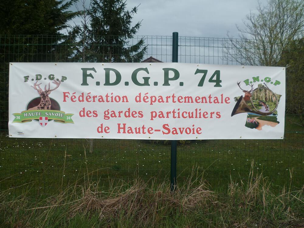 Création & installation de banderoles pour la FDGP 74
