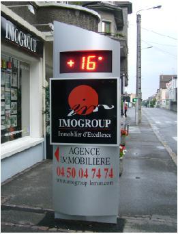 Création & installation d'un totem lumineux programmable pour Imogroup