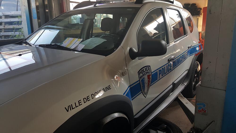 Marquage de véhicule pour la police municipale