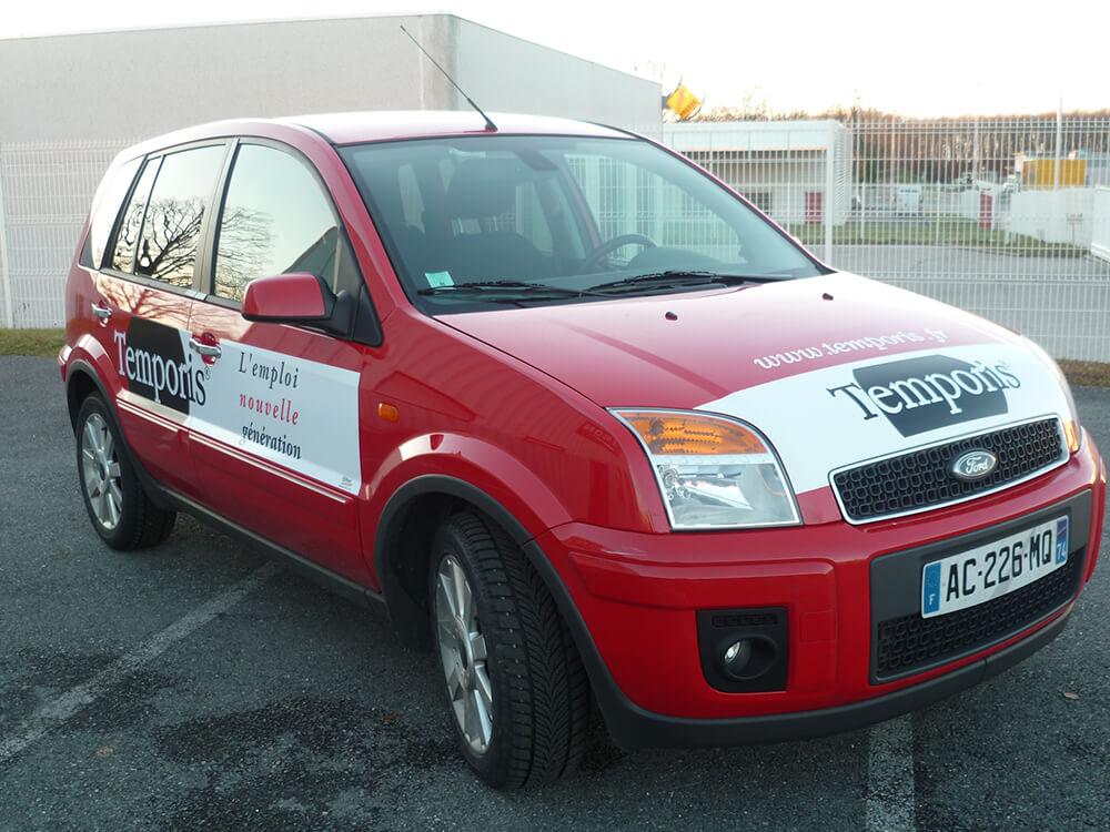 Marquage de véhicule pour Agence d'intérim