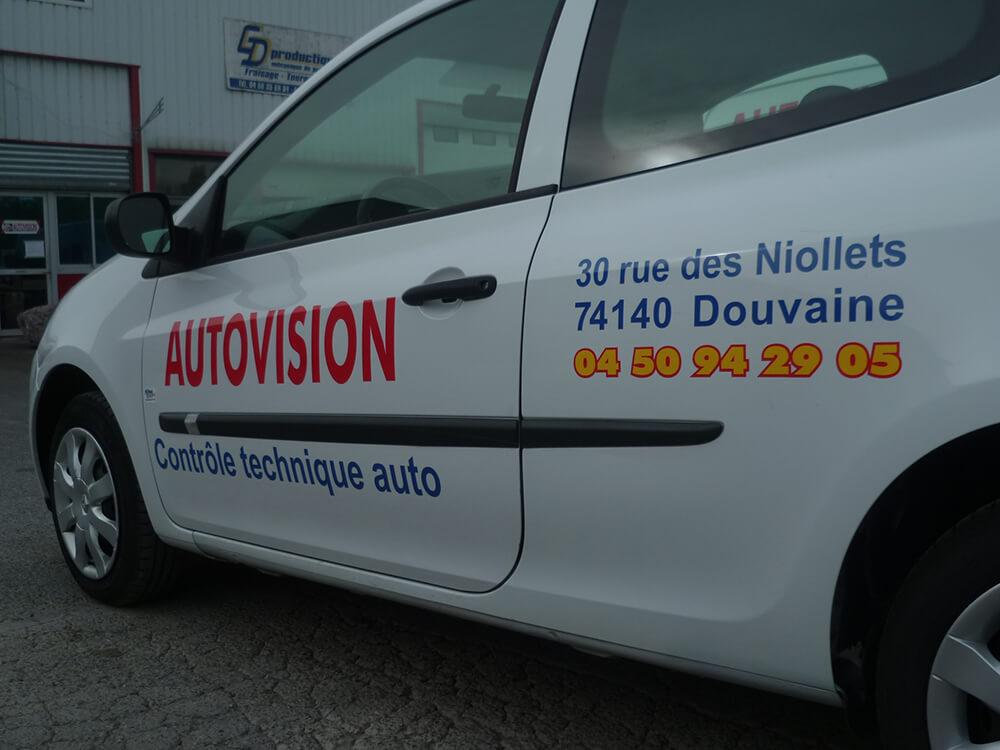 Marquage de véhicules pour Centre de contrôle technique