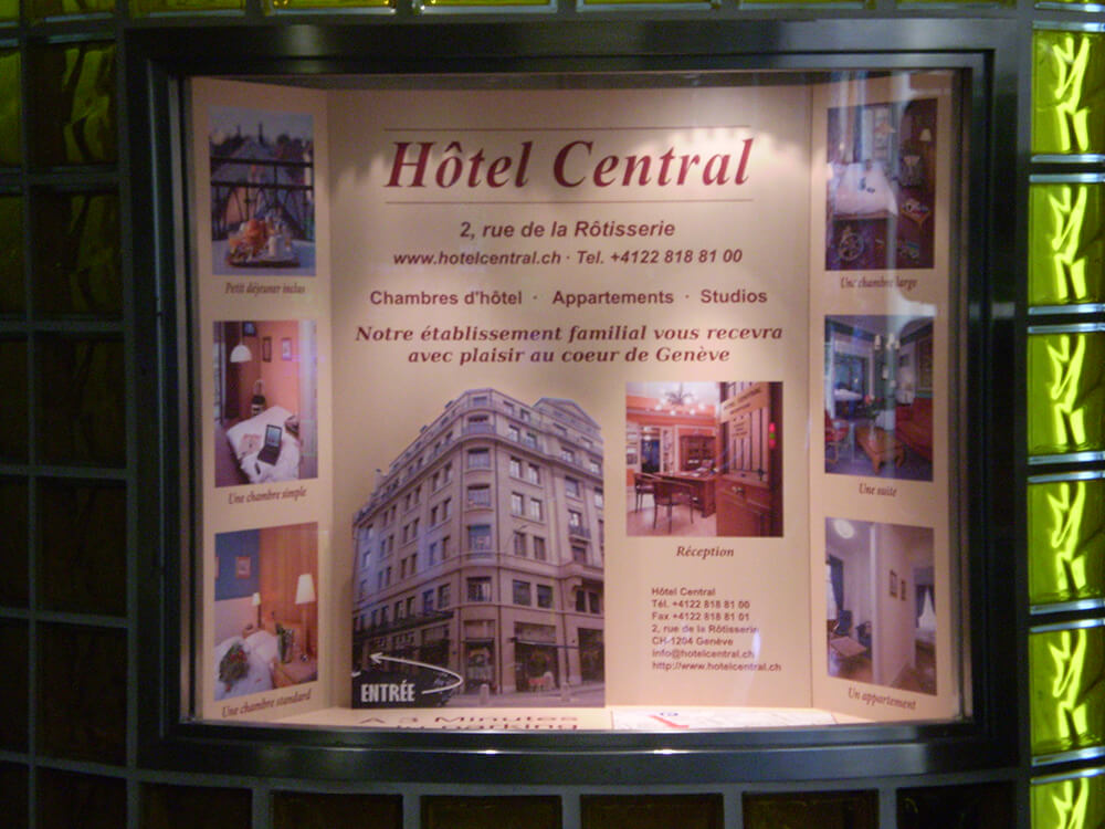 Création d'un cadre d'affichage lumineux pour un hôtel