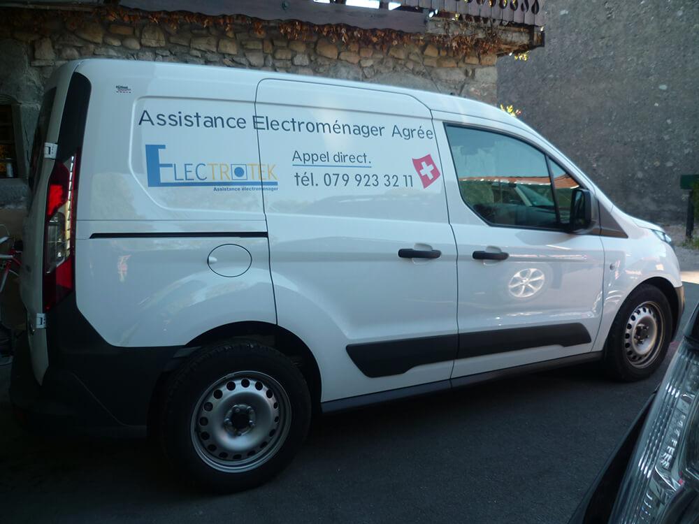 Marquage de véhicule pour Electrotek