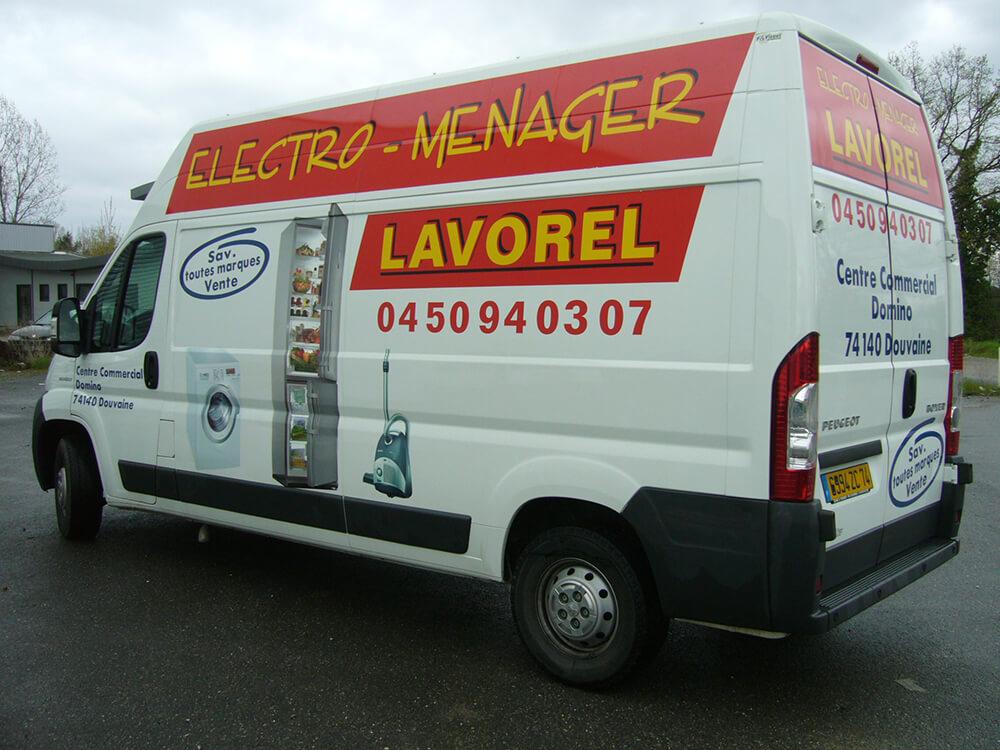 Marquage de véhicule pour Electroménager Lavorel
