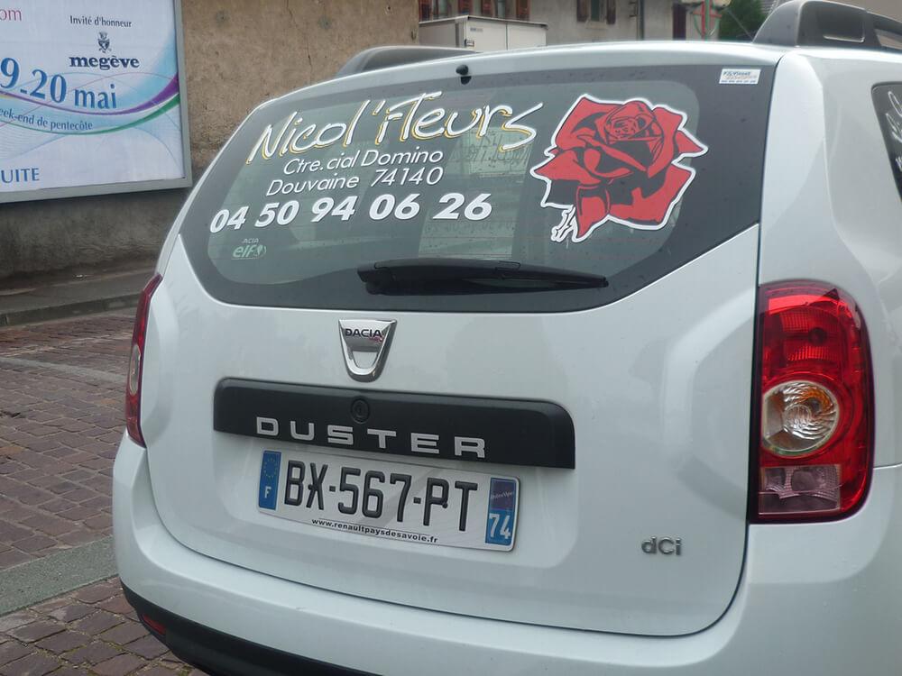 Marquage de véhicule pour une fleuriste