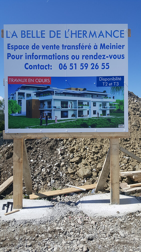 Création & installation de panneaux publicitaires pour un programme immobilier