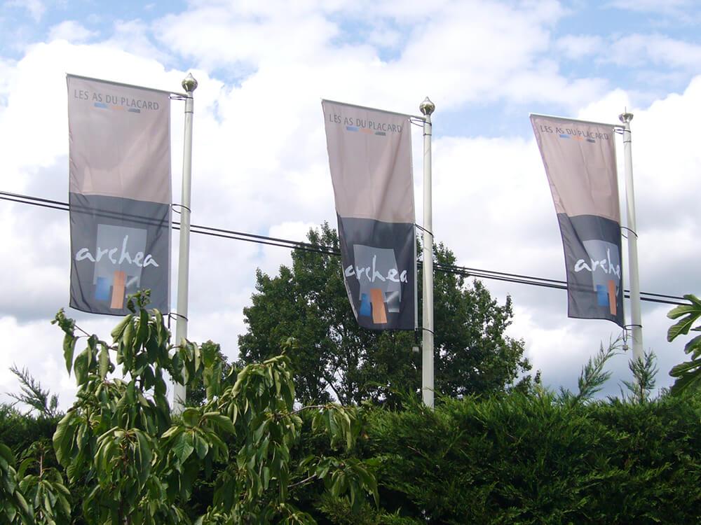 Création, fourniture et installation de pavillons pour Archéa