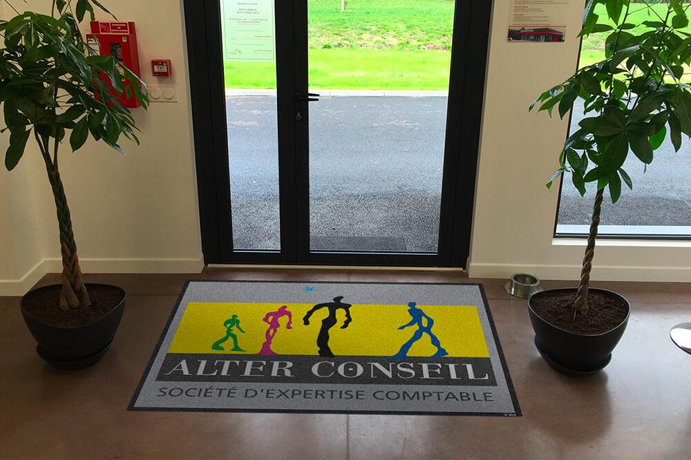 Fourniture de tapis de sol publicitaire pour un Expert-comptable