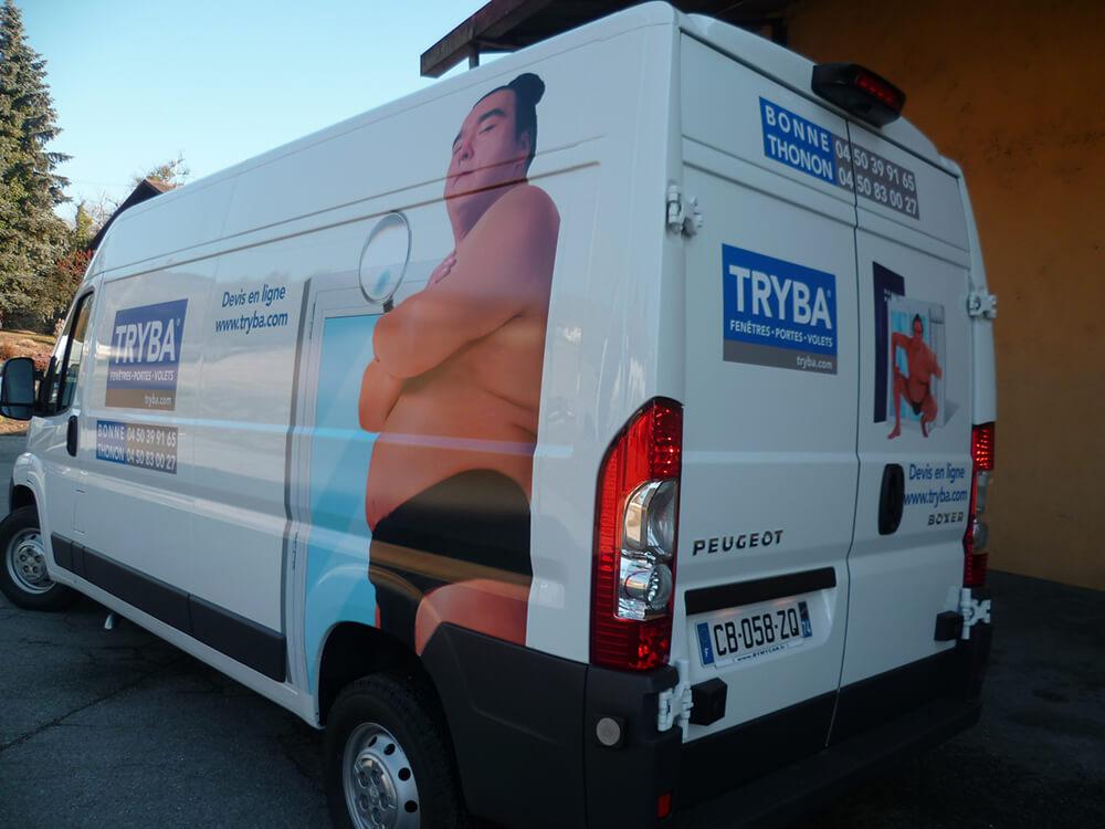 Marquage de véhicules pour Tryba